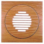 SpacePak - AC-TRM-LF-FM - Architectural Outlet - Louvered/Flush/Finished/Maple