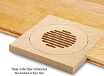 SpacePak - AC-TRM-LF-UO - 45AC-TRM-ROLF - Architectural Outlet - Louvered/Flush/Unfinished/Oak