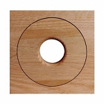 SpacePak - AC-TRM-OF-UO - Architectural Outlet - Open/Flush/Unfinished/Oak
