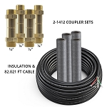 DIYCOUPLER-1412K75 Mr Cool DIYCOUPLER-14 + DIYCOUPLER-12 (Two Sets) w/ 75 ft of Communication Wire