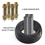 DIYCOUPLER-3858K75 Mr Cool DIYCOUPLER-38 + DIYCOUPLER-58 (Two Sets) w/ 75 ft of Communication Wire
