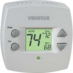 Venstar T1010 - Small Footprint 2 Heat/2 Cold 1-day Programmable Thermostat