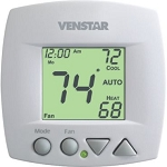 Venstar T1070 - Fan Coil Thermostat - 3-Speed Fan - Non-Programmable