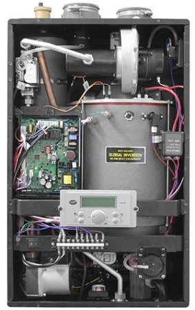 HTP EFTC-140W Wall-Mount Combi Boiler Space and Domestic Water ...
